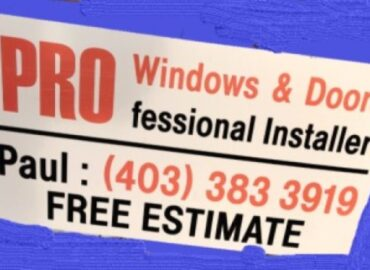 PRO WINDOWS AND DOORS – Professional Installer
